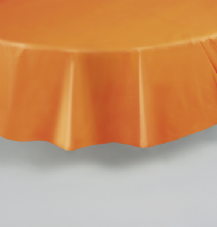 "Orange Round Tablecover 84""/ 213cm Diameter"